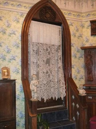 "Victorian Rose: Door to Roof in ""Wisteria Gardens"" Room"