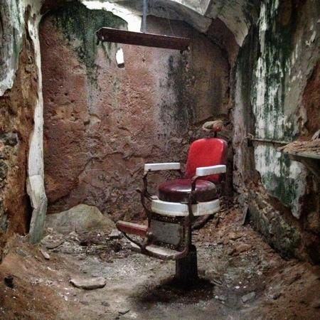 Eastern State Penitentiary: Barber chair