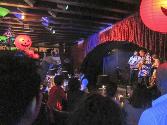 J.J. Mahoney's: the band in the smaller bar