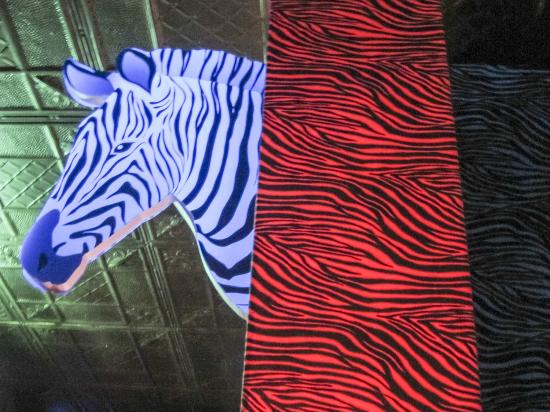 J.J. Mahoney's: zebra theming