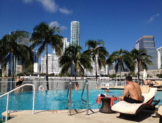 Mandarin Oriental Miami View From Sun Lounger In Pool Area