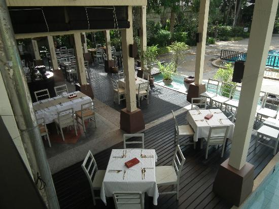 Krabi La Playa Resort: Dining view from above