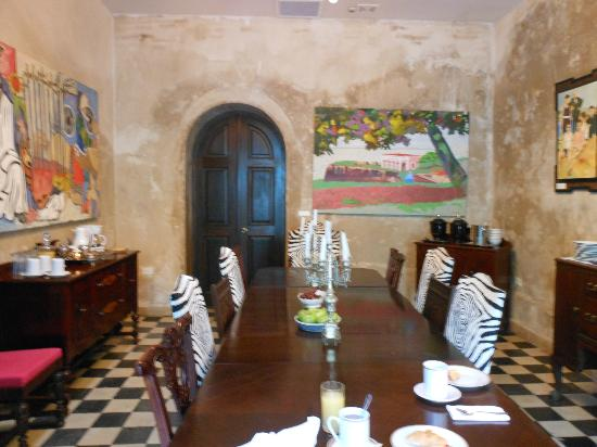 Villa Herencia: Dining area of the hotel