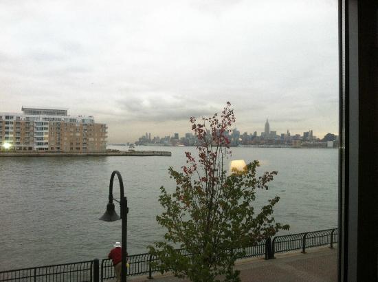 Hyatt Regency Jersey City: View across the Hudson from hotel room