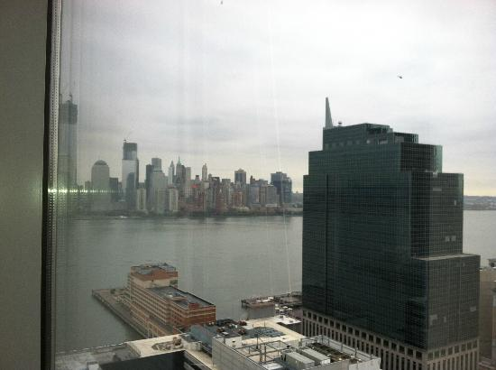 Hyatt Regency Jersey City: View of manhattan from office building across from the hotel