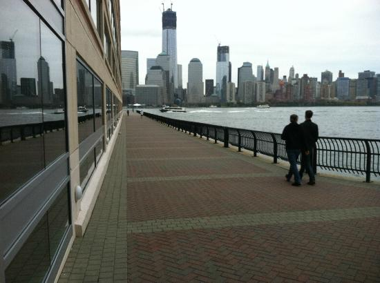 Hyatt Regency Jersey City: View across the Hudson from hotel room - the new WTC towers, Manhattan