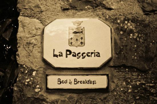 Florence La Paggeria B&B: Sign at entry