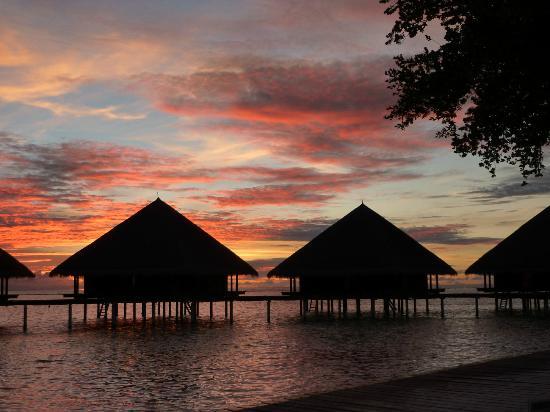 Ранналхи: sunset from the niki bar