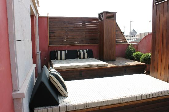 Hotel 1898: Our private deck area