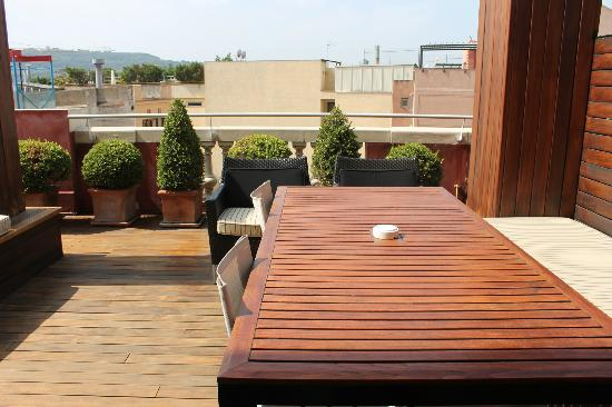Hotel 1898: Our private deck