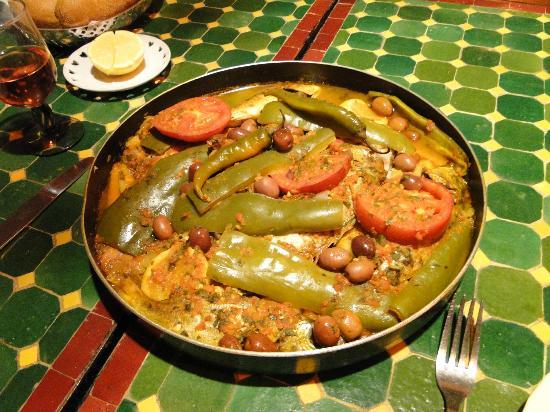Maison d' Hotes de la Cite Portugaise d'El Jadida : poisson au four