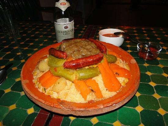 Maison d' Hotes de la Cite Portugaise d'El Jadida : Couscous Royal