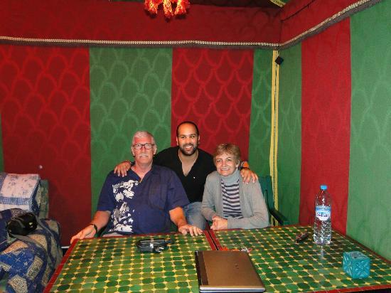Maison d' Hotes de la Cite Portugaise d'El Jadida : Sous la tente sur la terrasse