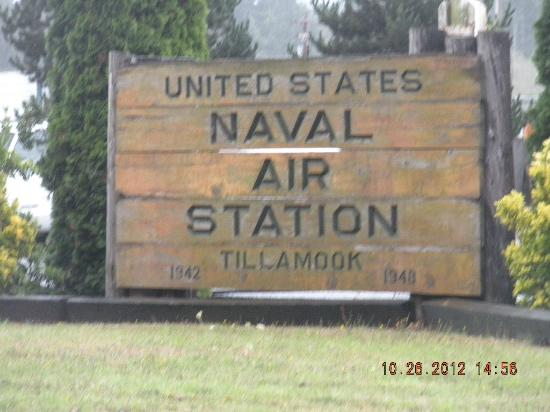 Tillamook Air Museum: Naval Air Station sign