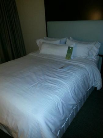 Le Westin Montreal: Queen bed... these Heavenly Bed matresses are very soft (might be too soft for some ppl).