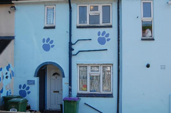Folkestone, UK: Blue clues house