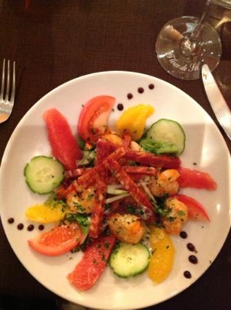 Great shrimp salad picture of la fleur de sel port en - Restaurant port en bessin fleur de sel ...