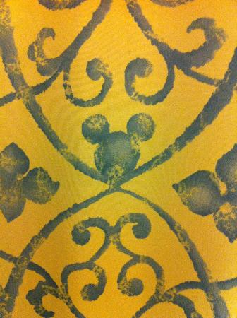 Disney's BoardWalk Inn: shower curtain close-up