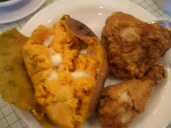 Berlin Farmstead: Broiled Chicken and Baked Sweet Potato