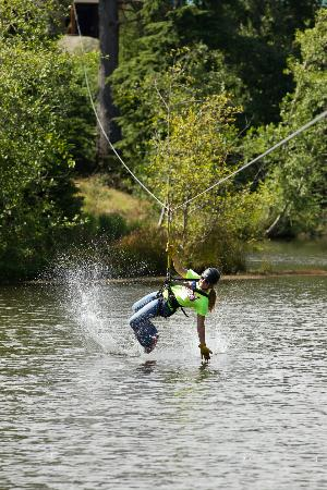 High Life Adventures: Maple Zip Line: Splashing Optional!