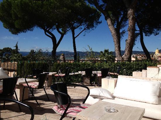 Hotel Ermitage: La terrasse