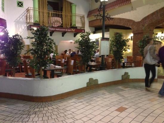 Saif Indian Restaurant & Bar.: empty tables - no wonder