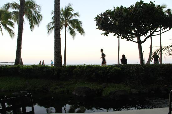 Hilton Grand Vacations at Hilton Hawaiian Village: Beach view from restaurant