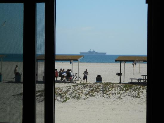 Navy Lodge North Island Naval Air Station: View of beach and a couple pavilions from our room