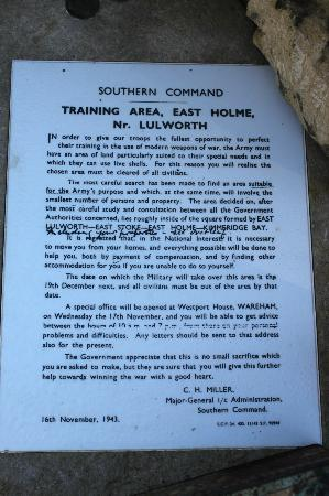 Tyneham: Letter sent to residents by MOD
