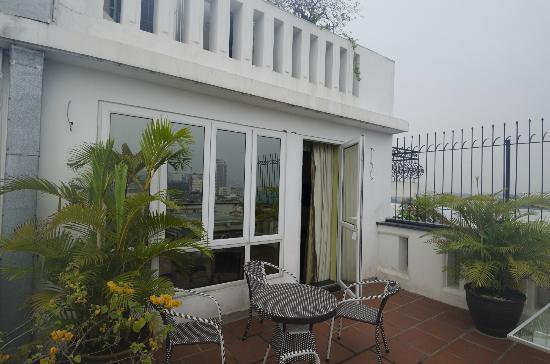 Maison D'Hanoi Hanova Hotel: Dachgarten