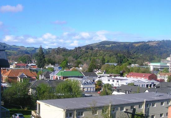 Bluestone on George: Dunedin from room balcony