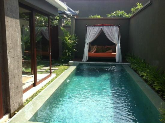 Seminyak Icon: Pool & Daybed - take from bedroom