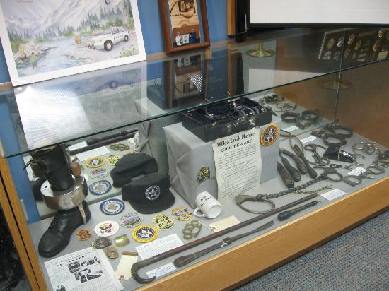 Alaska Law Enforcement Museum: Hand cuffs and leg irons.