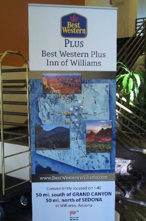 Welcoming sign, Best Western Plus Inn of Williams, AZ