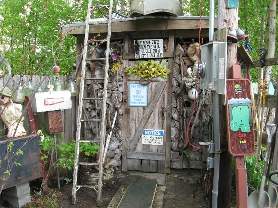 Wal Mikes: There is an outhouse for that true Alaska adventure.