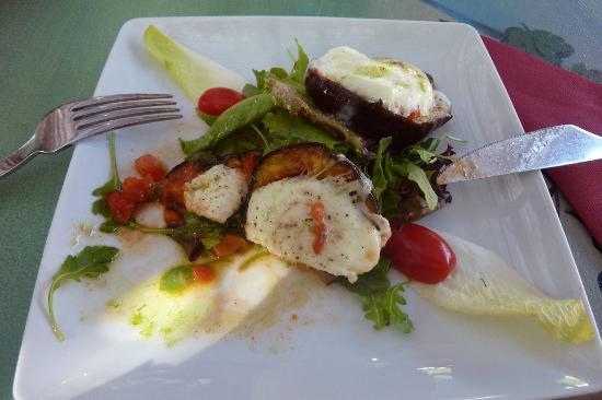 Restaurante Aquarelle : My aubergine and mozarella starter