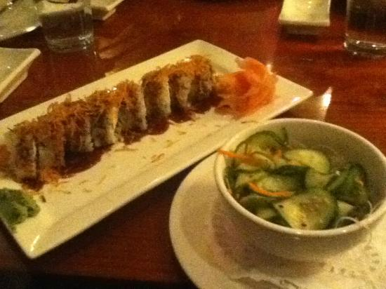 Chin Chin : Cucumber Salad and Shrimp Tempura Roll