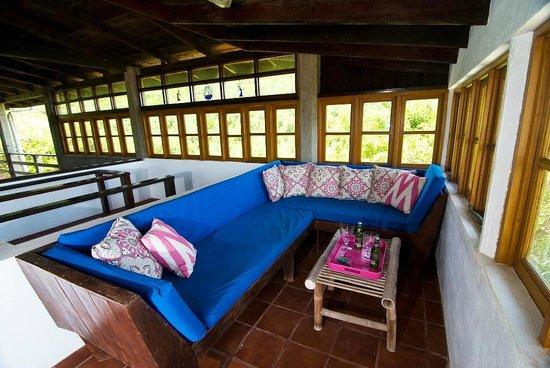 Sugar Reef Bequia: Quiet Corner of Veranda at French House, Sugar Reef
