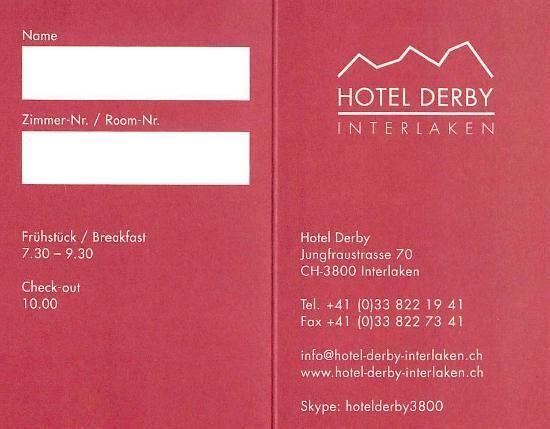 Hotel Derby: Hotel Information