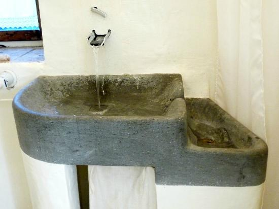 Bathroom Sink Made From A Flat Boulder Picture Of