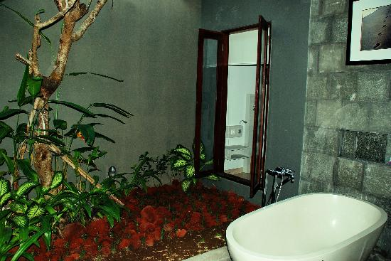 The Gatra Villas: Bath Tub under semi outdor ionterior
