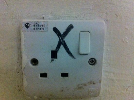 Pangkor Bay View Beach Resort: Unusable socket