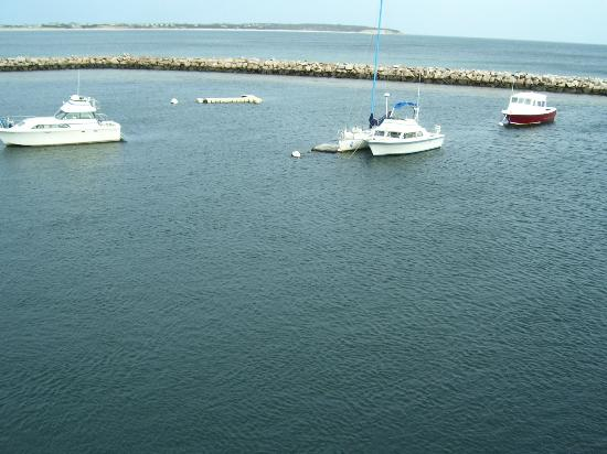 Rose Farm Inn: View from Block Island Ferry!