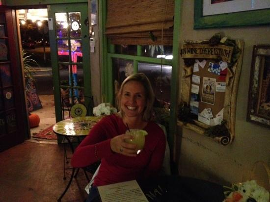 Kim and a perfect margarita at Gina's