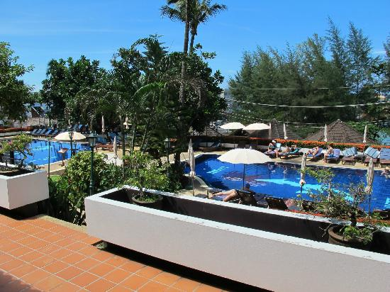 Best Western Phuket Ocean Resort: View from ground floor room overlooking pools