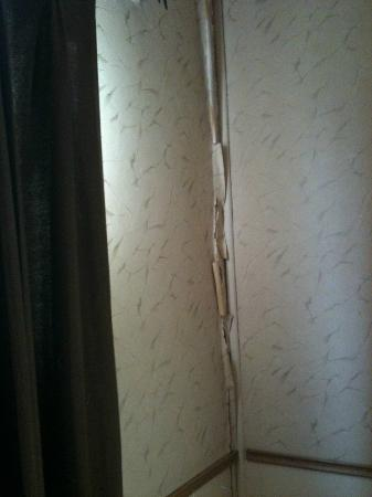 Sun-n-Sand Motel: peeling wallpaper