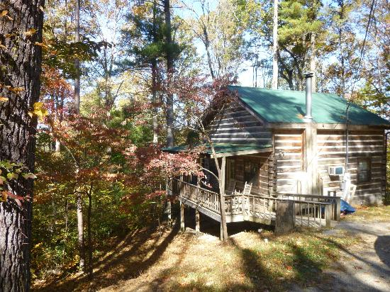 Top of Townsend: Exterior of White Pines cabin