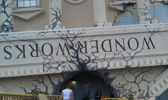 window world myrtle beach installation wonderworks get ready to have your world turned upside down picture of