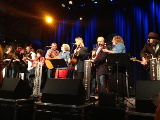 Music City Roots: Jam session at the end of the show, with all performers on stage.