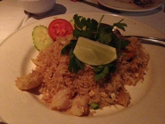 Tasty Thai: Seafood Fried Rice (smaller than normal size)